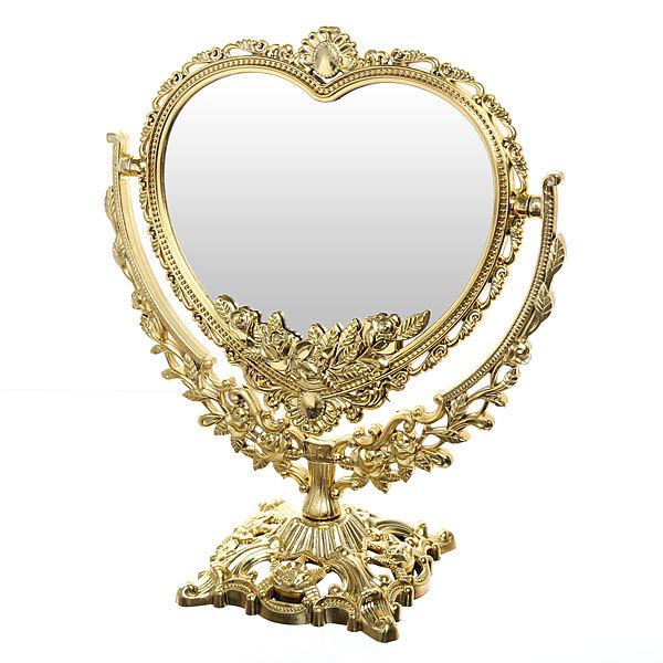 Зеркало настольное ″Версаль″ Сердце золото 30см 147-12 купить оптом и в розницу