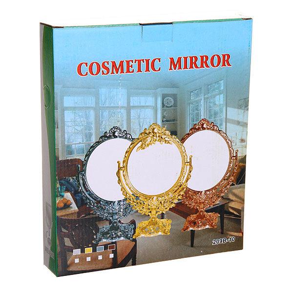 Зеркало настольное в пластиковой оправе ″Версаль - Серебро″ цвет серебро, двухстороннее с увеличением 30см купить оптом и в розницу