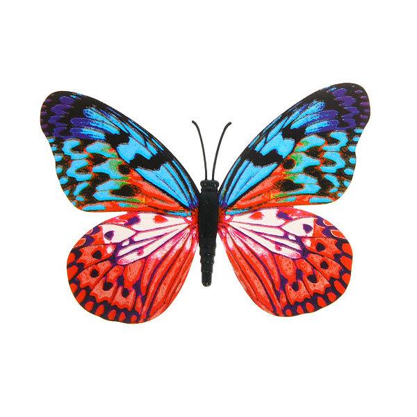 Украшение декоративное 10см Бабочка на магните 6706-6 купить оптом и в розницу