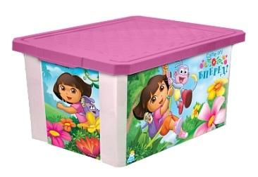 """Детский ящик для хранения игрушек """"X-BOX"""" """"ДАША ПУТЕШЕСТВЕННИЦА"""" 12л*4 купить оптом и в розницу"""