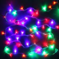 Гирлянда светодиодная 9,5м,100 ламп LED, Мультицвет, 8 реж, прозр.пров., с возмож. соединен. купить оптом и в розницу