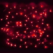 Гирлянда светодиодная 9,5м,100 ламп LED, Красный, 8 реж, прозр.пров., с возмож. соединен. купить оптом и в розницу