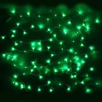 Гирлянда светодиодная 9,5м,100 ламп LED, Зеленый, 8 реж, прозр.пров., с возмож. соединен. купить оптом и в розницу