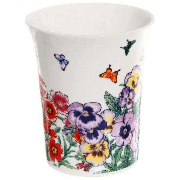 Кружка керамическая 320мл ″Цветы с бабочками″ купить оптом и в розницу