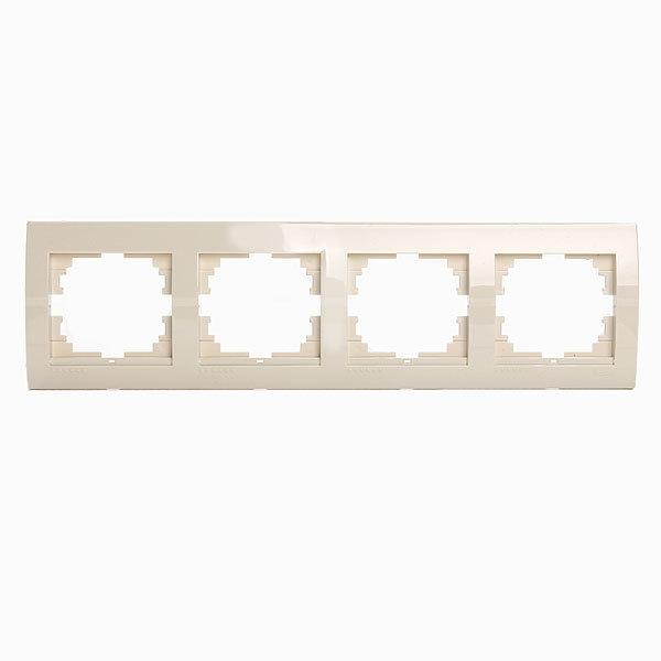 Рамка 4-ая горизонтальная DERIY крем 702-0300-149 (Р) купить оптом и в розницу