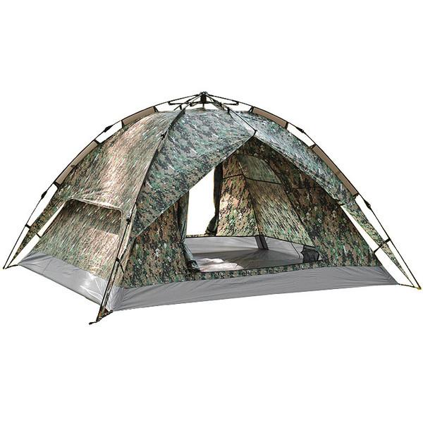 Палатка туристическая 3-местная 1-слойная зонтичного типа,цвет хаки, 210*180*135 купить оптом и в розницу