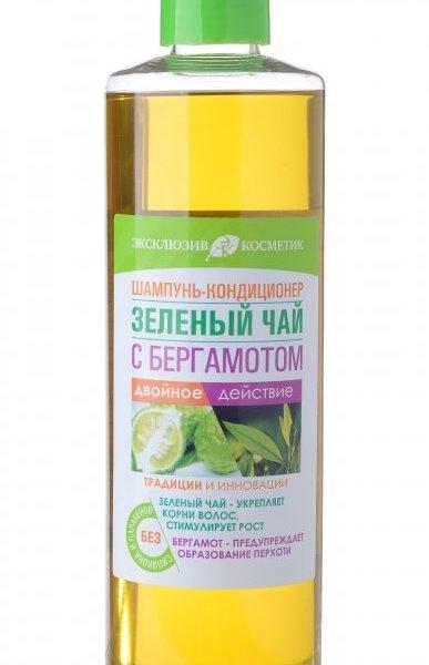 Шампунь-кондиционер для волос Эксклюзив косметик Зеленый чай с бергамотом 500 мл. купить оптом и в розницу