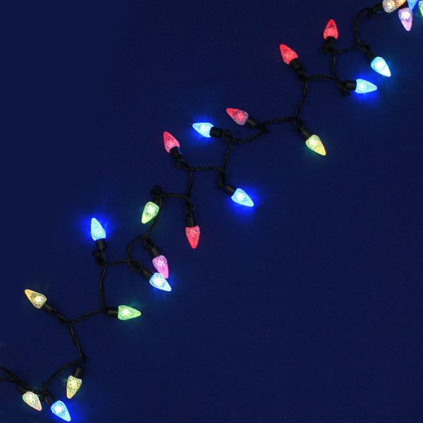 Гирлянда светодиодная 5м,50 лампы LED, Шишки, RGB( красный,зеленый,синий), авторежимы, прозр.пров., с возм.совмещ купить оптом и в розницу