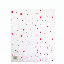 Пакет подарочный прозрачный ″Сердечки″ 35*50см цена за 1шт купить оптом и в розницу