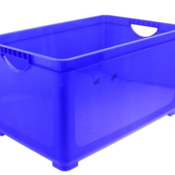 Ящик для хранения универсальный 5,1 л синий лего*8 купить оптом и в розницу