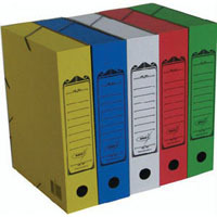 Короб архивный  А4/70 карт.на резин зелен. купить оптом и в розницу
