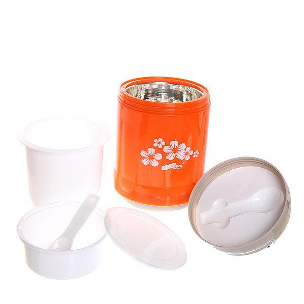 Термос со стеклянной колбой ланч-бокс 1200 мл пластиковый купить оптом и в розницу