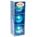 Новогодние шары ″Ледовое шоу″ 8см (набор 3шт.) купить оптом и в розницу