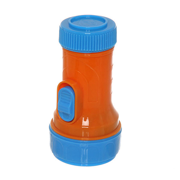 Фонарь ручной пластик малый оранжево-синий, 1 LED 1W 1*R20 купить оптом и в розницу