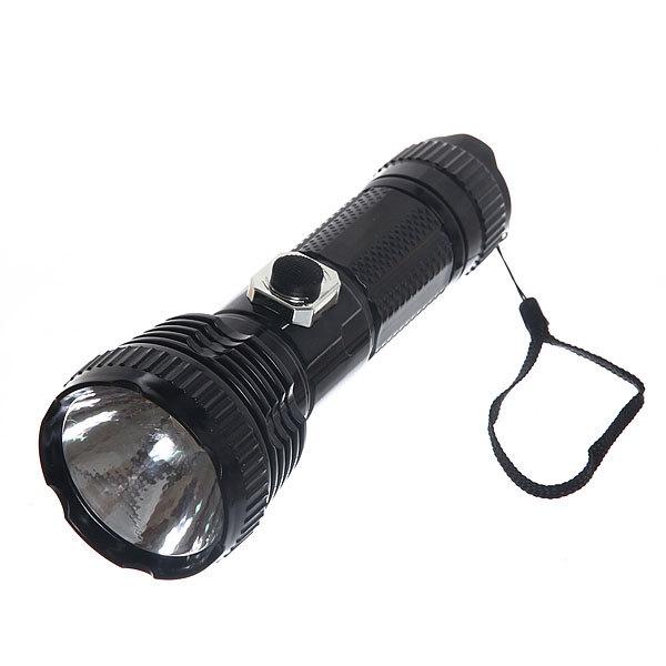 Фонарь ручной пластик большой цвет черный, 1 LED 1W 2*R20 купить оптом и в розницу