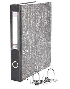 Папка-файл   HATBER А4/50 бумвинил, мраморная черная, разборная купить оптом и в розницу
