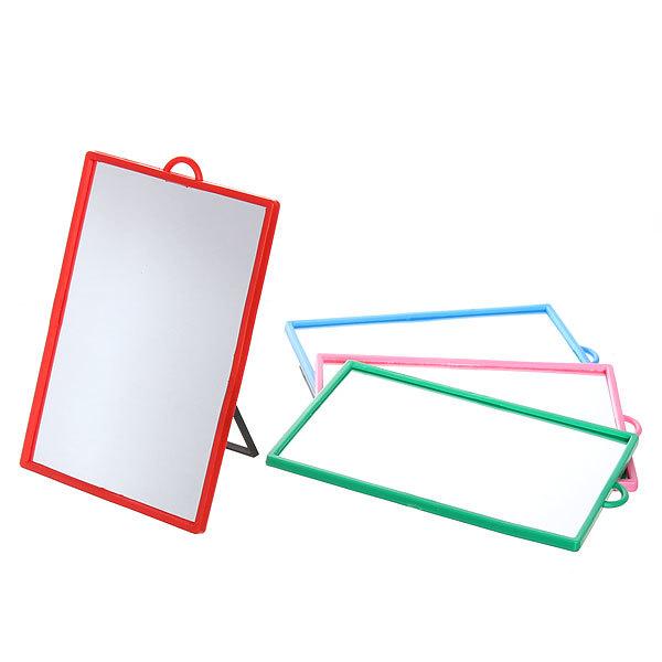 Зеркало настольное в пластиковой оправе ″Классикое″ прямоугольник, подвесное 10*13,5см купить оптом и в розницу