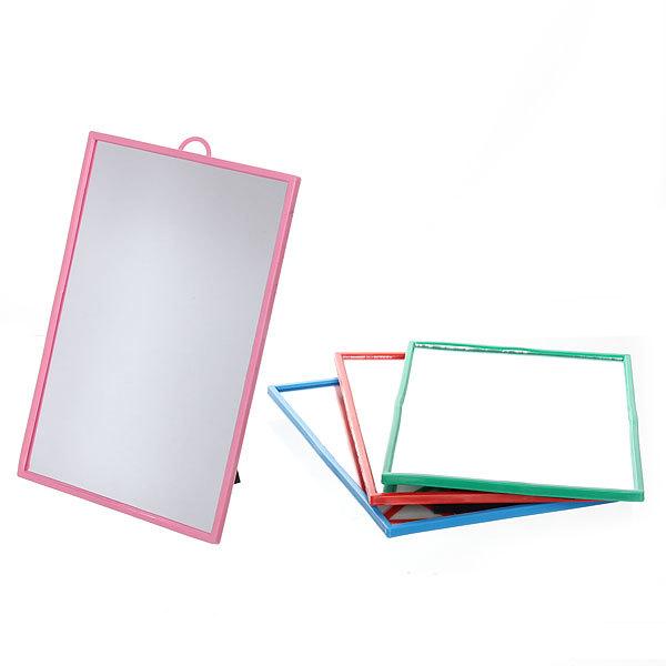 Зеркало настольное в пластиковой оправе ″Классикое″ прямоугольник, подвесное 12*17см купить оптом и в розницу