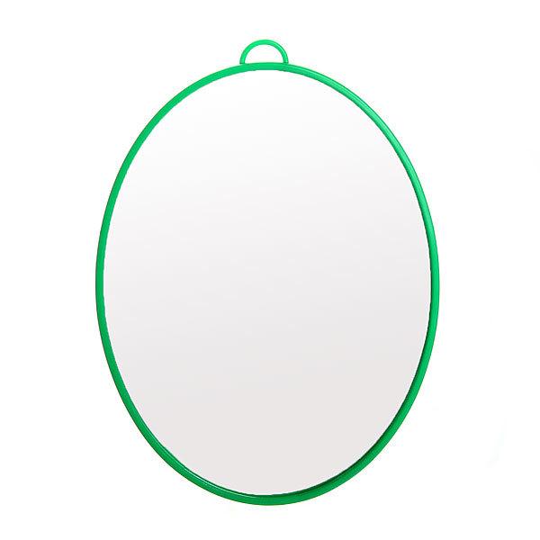 Зеркало настольное в пластиковой оправе ″Классикое″ овал, подвесное 17*13см купить оптом и в розницу