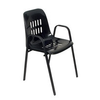 Стул с пластиковым сиденьем 51*50*83 см Лайт черный купить оптом и в розницу