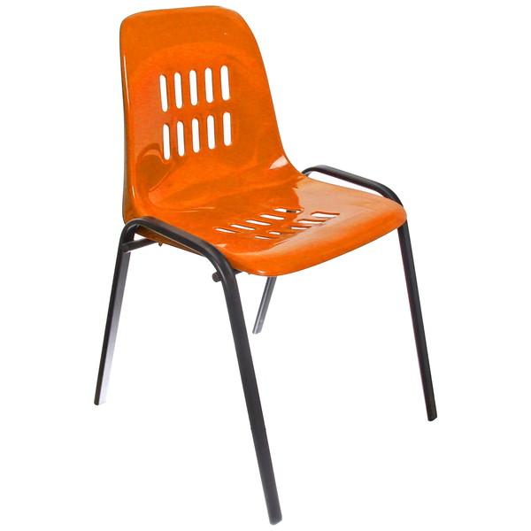 Стул с пластиковым сиденьем 51*50*83 см Лайт оранжевый купить оптом и в розницу
