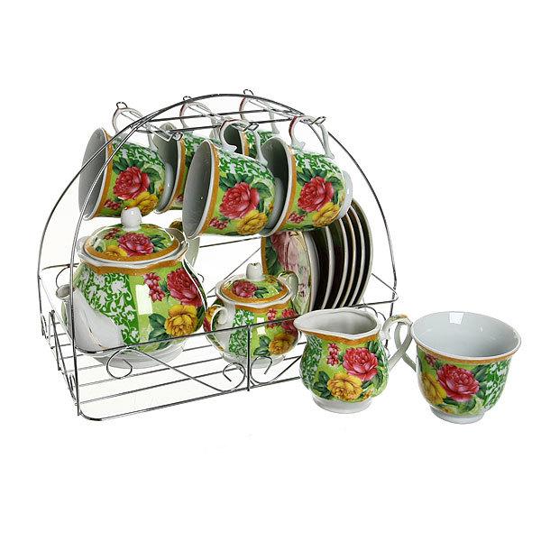 Чайный набор 15 предметов на металлической подставке ″Лето″ купить оптом и в розницу
