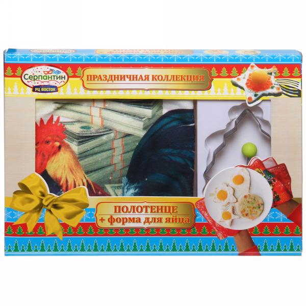Набор форма для яичницы и полотенце ″Богатства и благополучия″, Денежный петушок купить оптом и в розницу