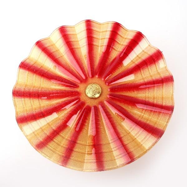 Фруктовница ″Валенсия″ на ножке 30см (красный цвет) купить оптом и в розницу