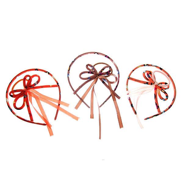 Ободок и резинка для волос ″Верона - бантик″, цвет микс купить оптом и в розницу