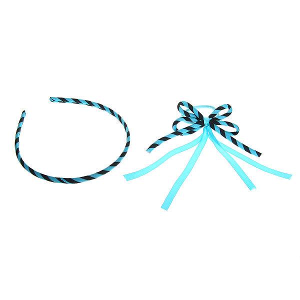 Резинка для волос с ободком в наборе ″Верона″ полосочки 080-9 купить оптом и в розницу