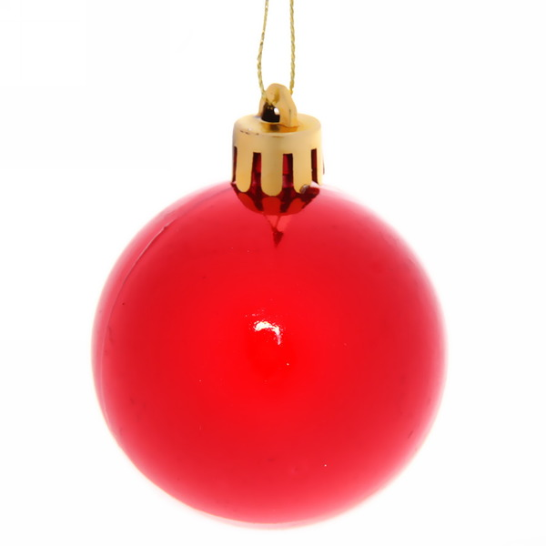 Новогодние шары ″Рубиновый блеск″ 5см (набор 6шт.) купить оптом и в розницу