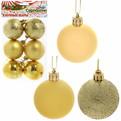 Новогодние шары ″Золото ассорти″ 5см (набор 6шт.) купить оптом и в розницу