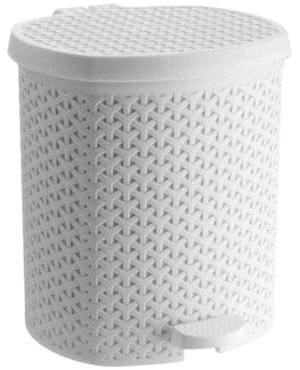 Контейнер педальный для мусора плетенный белый 21 л *4 купить оптом и в розницу