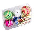 Новогодние шары ″Цирковой шар″ 6см (набор 6шт.) купить оптом и в розницу