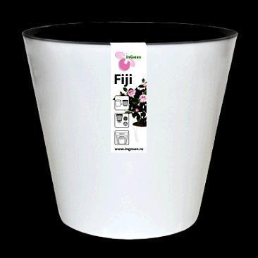 Горшок Фиджи D 160 мм/1,6 л белый  *16 купить оптом и в розницу