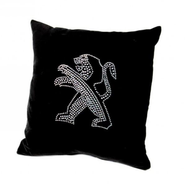 Подушка декоративная 35*35см Автомобиль черная бархатная со стразами купить оптом и в розницу