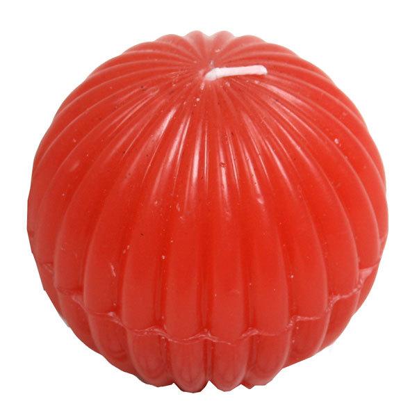 Свеча ″Красный шар″, диам. 7 см купить оптом и в розницу