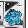 Аппликация ″Цветочек″ (термо, пришивная) 9шт 408-14 купить оптом и в розницу