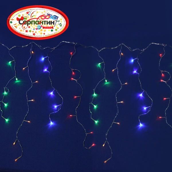Бахрома светодиодная 3 х 0,3/0,5 м, 120 ламп LED, Мультицвет, 8 режимов купить оптом и в розницу