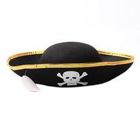 Шляпа карнавальная ″Пират″ золотой ободок 020-3 купить оптом и в розницу