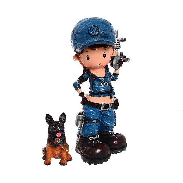Копилка девочка +собака Н5899 купить оптом и в розницу