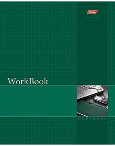 """Тетрадь 96л.кл.сшивка HATBER, """"WorkBook"""", зеленая, тиснение купить оптом и в розницу"""
