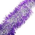 Мишура новогодняя 2 метра 10см ″Серебряный блеск″ фиолетовый купить оптом и в розницу