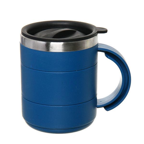 Термокружка 400 мл ″Серп и молот″ синяя купить оптом и в розницу