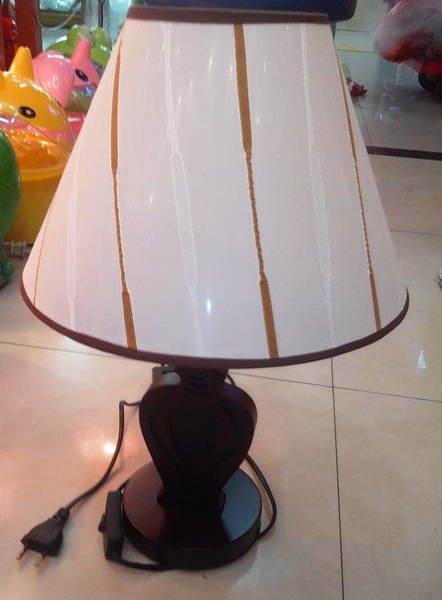 Светильник настольный дерево ″Абажур″ 2287 h-50см (220В, Е27, вкл, выкл, 40 Вт)укомплектованный купить оптом и в розницу