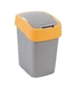 Контейнер для мусора 10 л FLIP BIN серебристый/зеленый/*4 шт купить оптом и в розницу