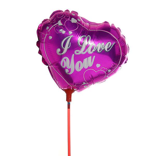 Шар фольгированный 9″22,5см ″Седце Love″ в наборе 20шт+палочки держатели для шариков 5 купить оптом и в розницу