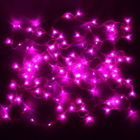 Гирлянда светодиодная 24м, 300 ламп LED, Розовый, 8 реж, прозр.пров., с возмож. соединен купить оптом и в розницу