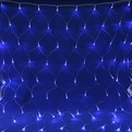 Сетка светодиодная 1,55 х 1,45 м, 120 ламп LED, Синий, 8 режимов, прозр.пров. купить оптом и в розницу