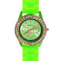 Часы наручные на силиконовом ремешке со стразами Женева 853-5 купить оптом и в розницу
